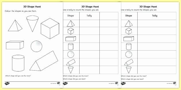 3d Shapes Worksheet for Kindergarten Shape Hunt Worksheet Activity Sheet 3d Shapes Printable