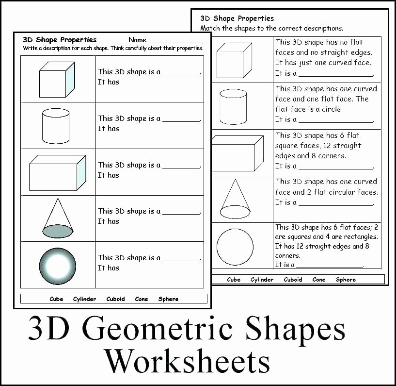 3d Shapes Worksheet for Kindergarten Shapes Worksheet Kindergarten K Math Worksheets solid Shapes