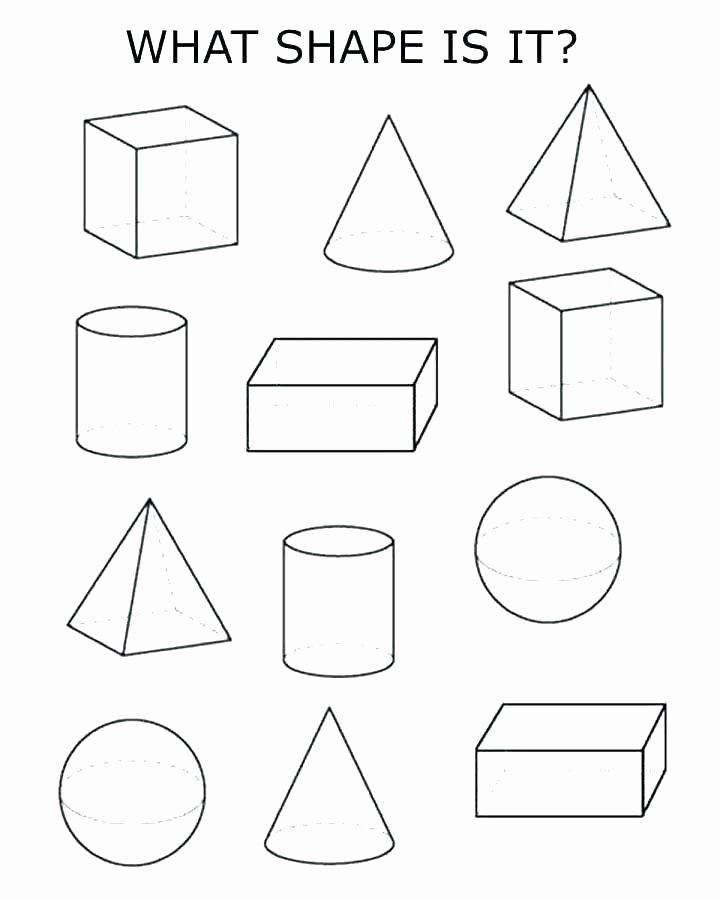 3d Shapes Worksheet for Kindergarten Teaching Match the Shape 0 Grade 2 Math Shapes Worksheets