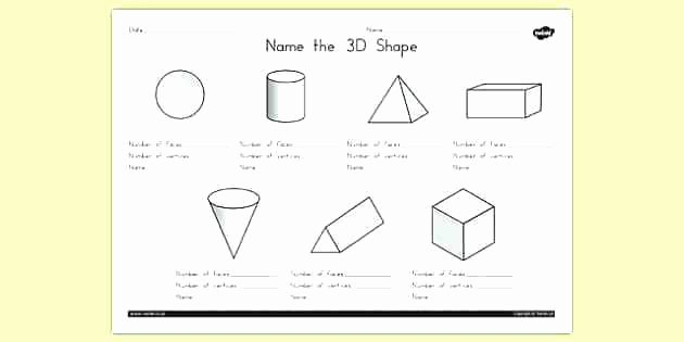 3d Shapes Worksheets 2nd Grade 3d Shapes Worksheets 2nd Grade First Grade Shapes Worksheet
