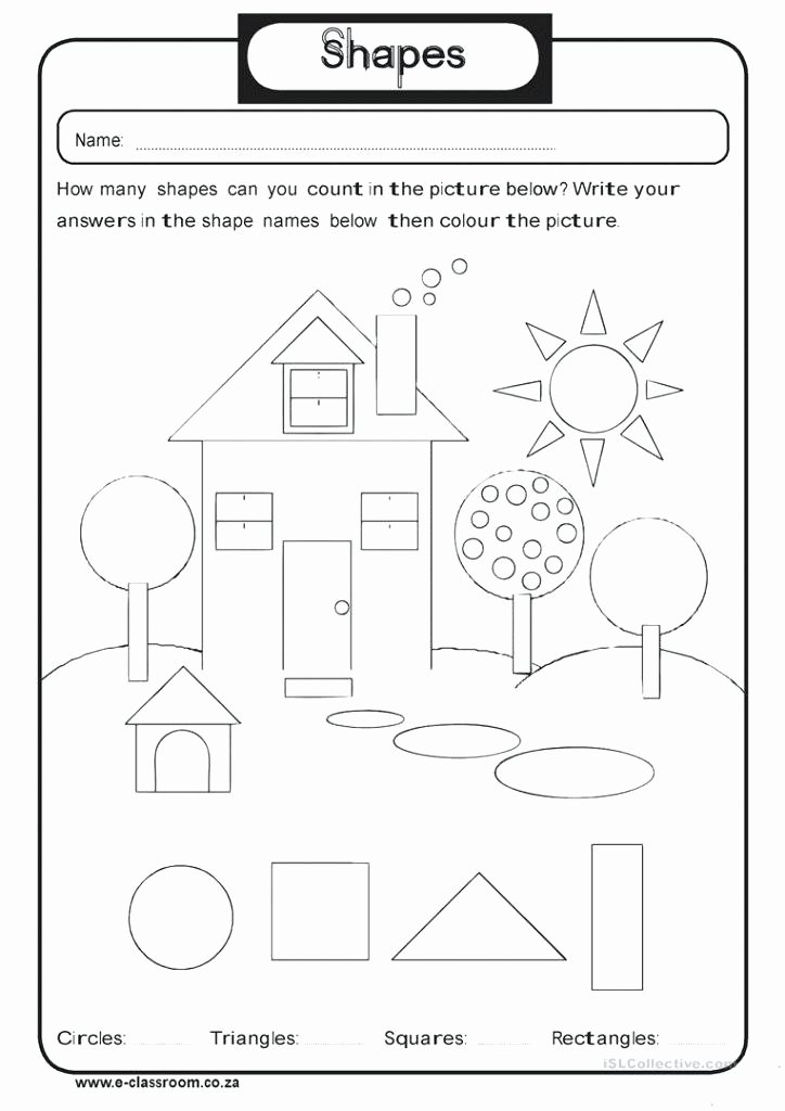 kindergarten shapes worksheets grade printable geometry for 3d 2nd 2d and