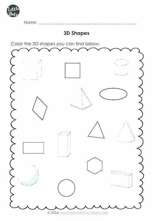3d Shapes Worksheets 2nd Grade Geometry Shape Math Shapes Worksheets Grade 7 Worksheet 3d Pdf 2