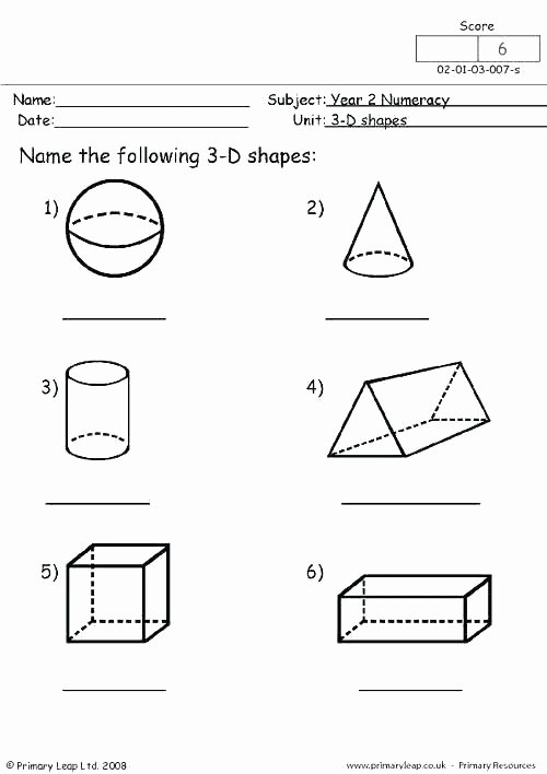 3d Shapes Worksheets 2nd Grade Identifying Shapes Worksheets 2nd Grade