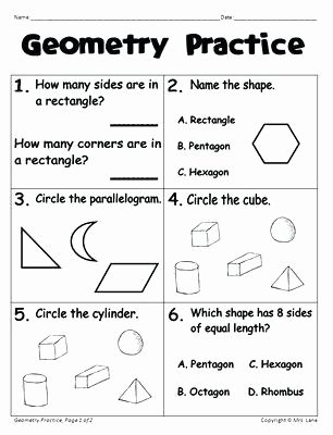 3d Shapes Worksheets 2nd Grade Identifying Shapes Worksheets Grade About This Worksheet 2d