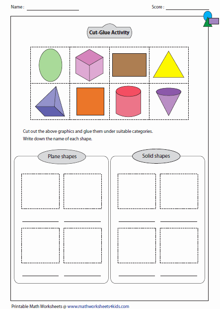 3d Shapes Worksheets 2nd Grade Math Worksheets On Shapes Grade 2