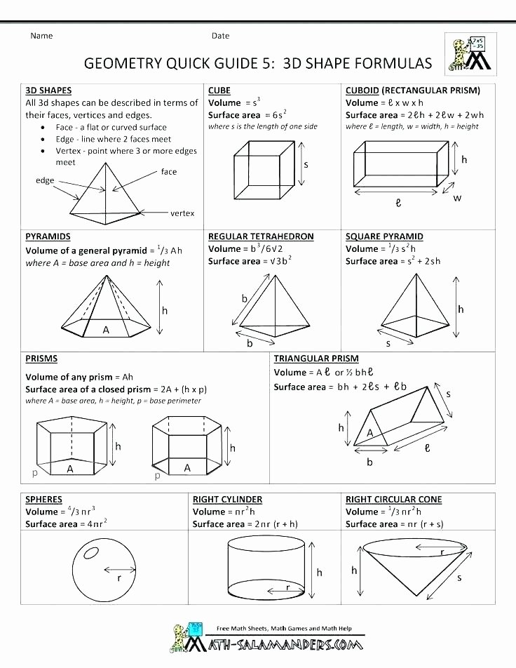 3d Shapes Worksheets 2nd Grade Shapes Worksheets Shape Challenge Properties Grade 3 Math