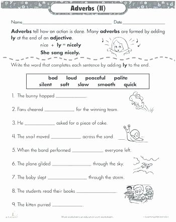 3rd Grade Adjectives Worksheets Adjectives Worksheets for Grade 6
