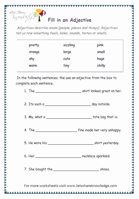 3rd Grade Adjectives Worksheets Page 6 Superlative Adjectives Worksheet Grade 3 Grammar