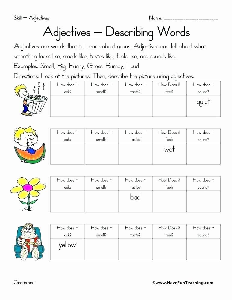 3rd Grade Adjectives Worksheets Proper Adjectives Worksheets Proper Adjectives Worksheets