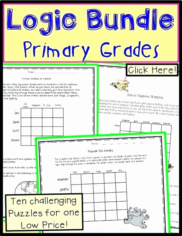 3rd Grade Brain Teasers Printable Brain Teasers and Logic Puzzles Defeat the Dragon 2 Bundle