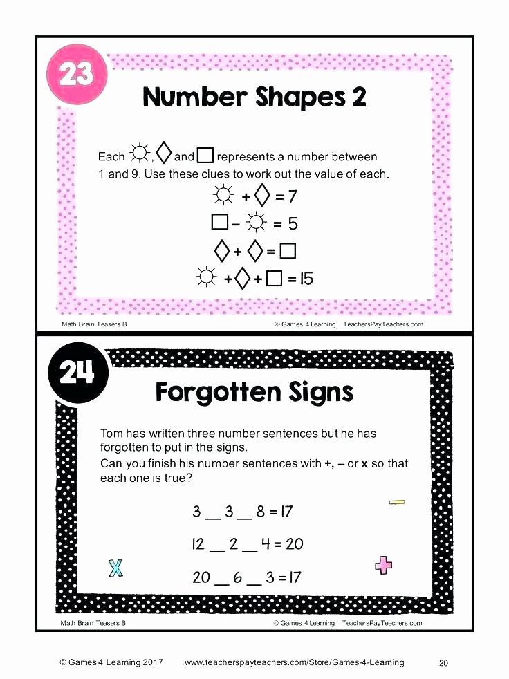 3rd Grade Brain Teasers Worksheets 6th Grade Brain Teasers Worksheets