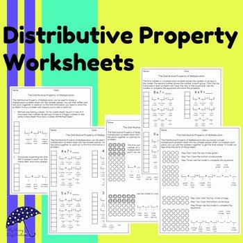 3rd Grade Distributive Property Worksheets Addition Property Worksheet