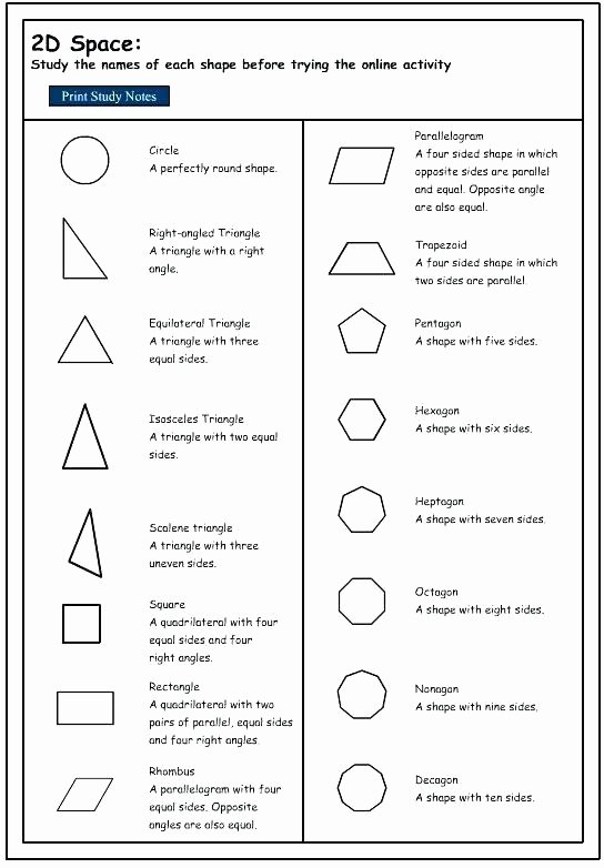 3rd Grade Geometry Worksheets Pdf Luxury 2d Geometry Worksheets Best Shape Sides Worksheet