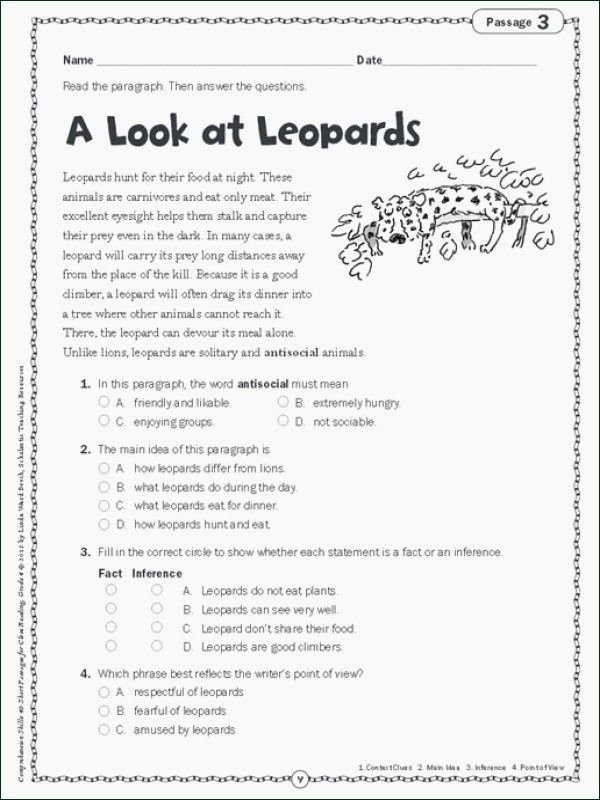 3rd Grade Main Idea Worksheets 12th Grade Math Worksheets