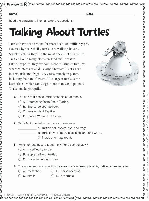 3rd Grade Main Idea Worksheets Main Idea Multi Paragraph Text Worksheet Awesome Main