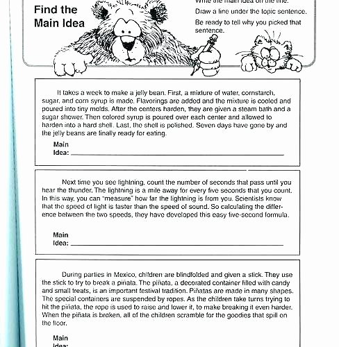 3rd Grade Main Idea Worksheets Nonfiction Main Idea Worksheets