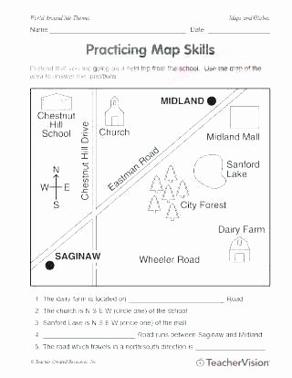 3rd Grade Map Skills Worksheets Fourth Grade Geography Worksheets