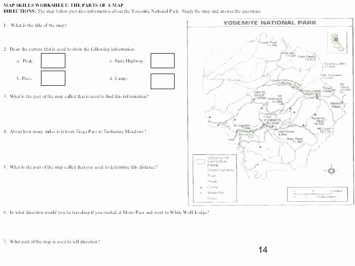 3rd Grade Map Skills Worksheets Free Map Skills Worksheets