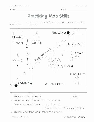 3rd Grade Map Skills Worksheets Free Printable Map Skills Worksheets for First Grade