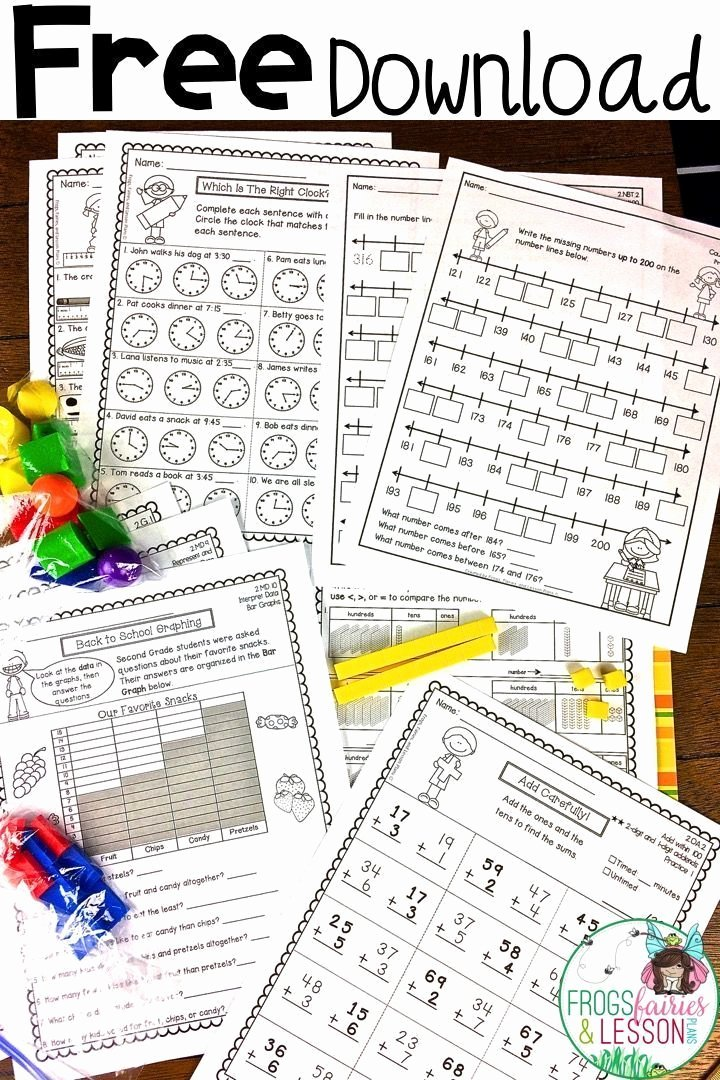 3rd Grade Math Measurement Worksheets Free Second Grade Math Practice Worksheets