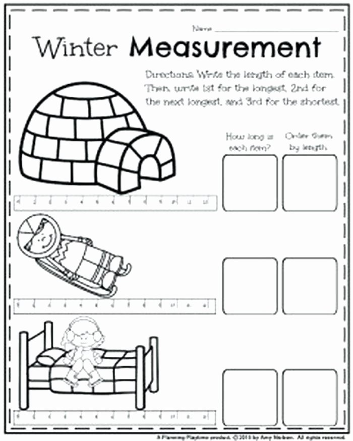 3rd Grade Measurement Worksheets 9 Measuring Worksheets for First Grade All Download and