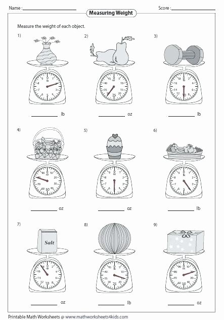 3rd Grade Measurement Worksheets Mass and Weight Science Metric Measurement Worksheets Middle