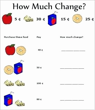 3rd Grade Money Worksheets Money Worksheets for Grade 2 Collection Free Printable
