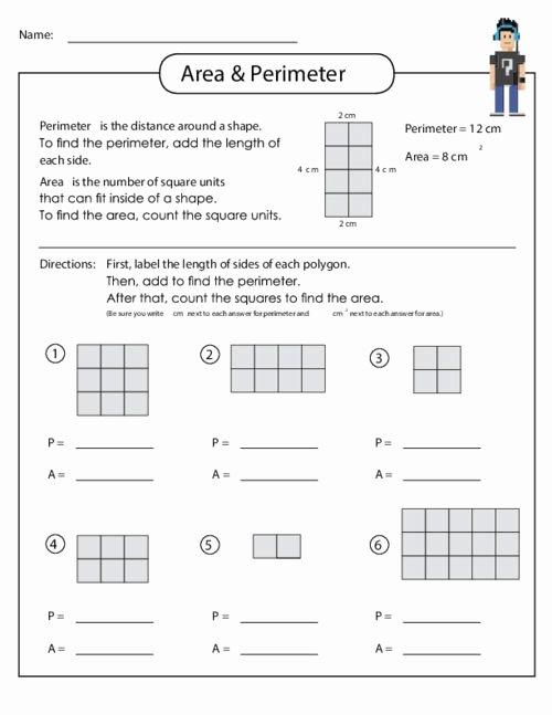 3rd Grade Perimeter Worksheets 3rd Grade Math area and Perimeter Worksheets New area