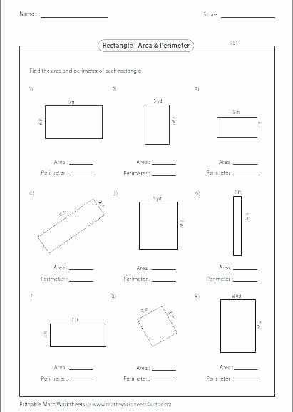 3rd Grade Perimeter Worksheets area and Perimeter Worksheets with Answers