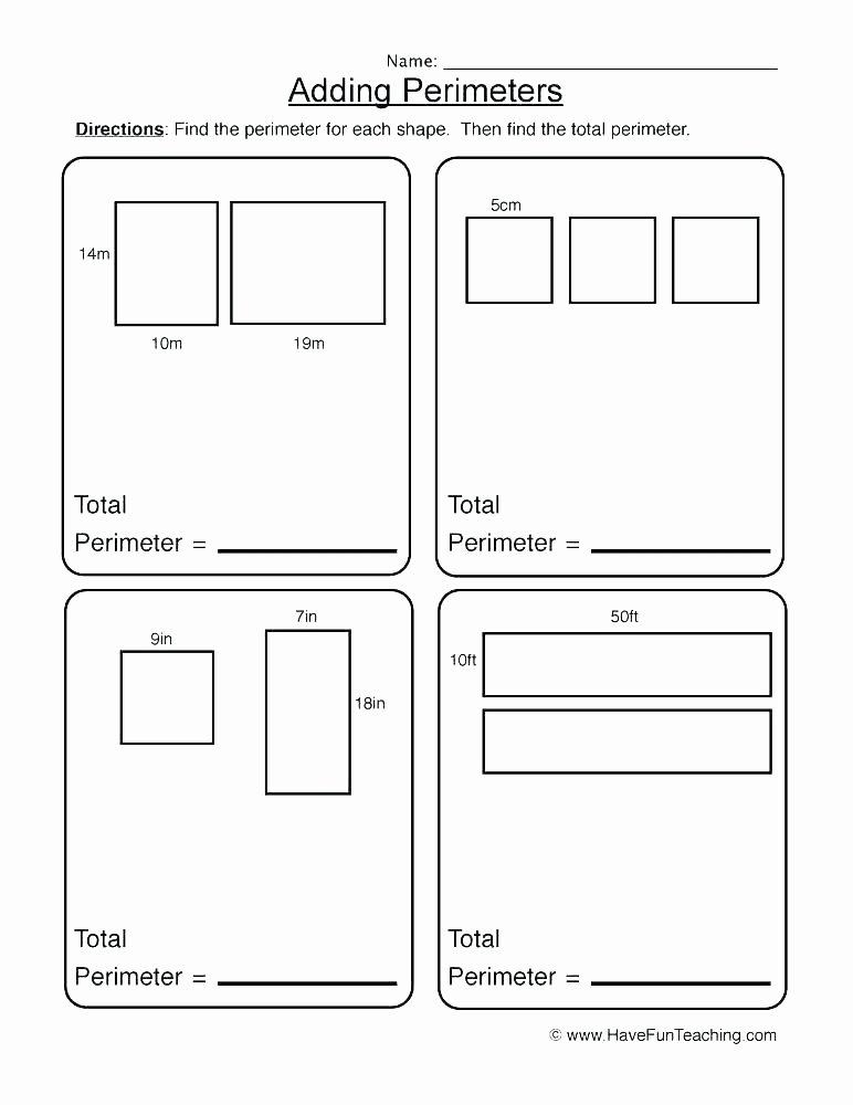 3rd Grade Perimeter Worksheets Teaching Perimeter Worksheets