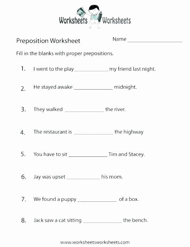 3rd Grade Preposition Worksheets In and Out Worksheets Directional and Positional Words