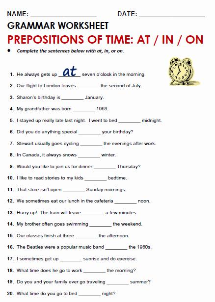 3rd Grade Preposition Worksheets Pin On Grammar