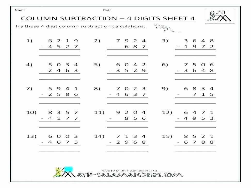 3rd Grade Regrouping Worksheets 5 Digit Subtraction with Regrouping – Paperandcotton