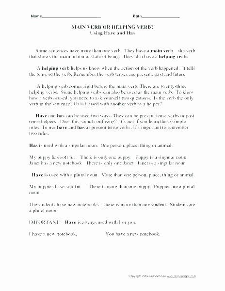 3rd Grade Verb Tense Worksheets Irregular Verb Worksheets for 3rd Grade – Primalvape