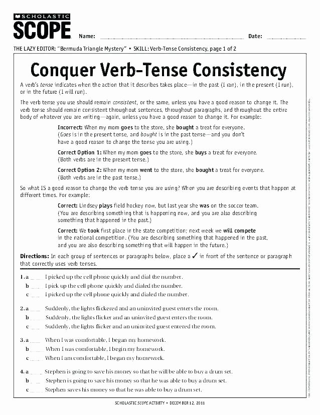 3rd Grade Verb Tense Worksheets Past Exercises Verb Tenses Worksheets for Grade Tense
