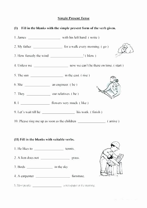 3rd Grade Verb Tense Worksheets Past Simple Exercises Worksheets