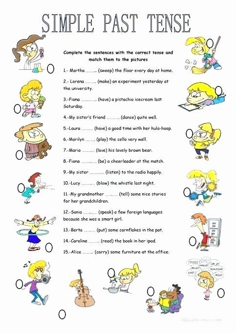 3rd Grade Verb Tense Worksheets Past Tense Exercises