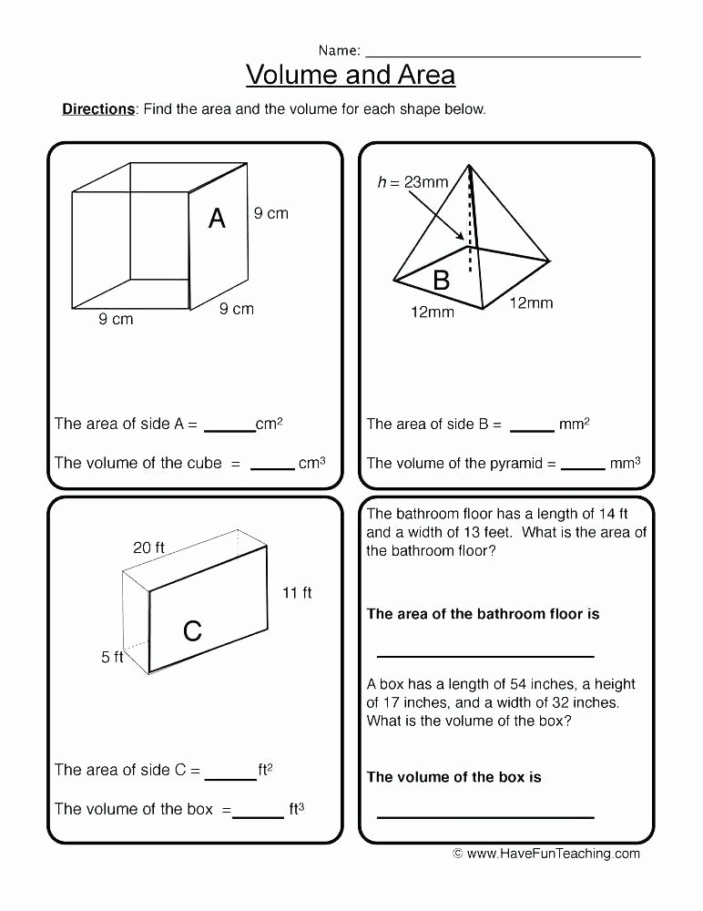 3rd Grade Volume Worksheets area Worksheets area Worksheets Pdf area Triangles
