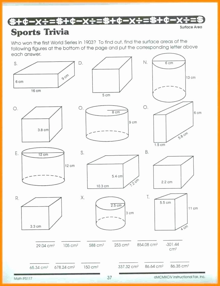 3rd Grade Volume Worksheets Kids Volume Worksheets A Cone Worksheet E B Surface area