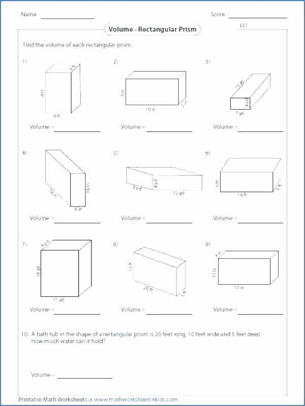 3rd Grade Volume Worksheets Math Worksheets Volume Of Triangular Prism – Peacer