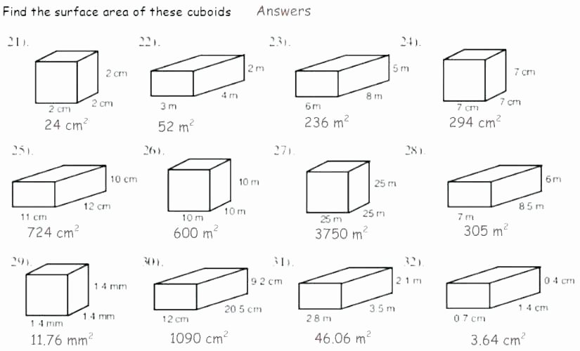 3rd Grade Volume Worksheets Perimeter Math Worksheets Grade area 5 and Volume 7 for