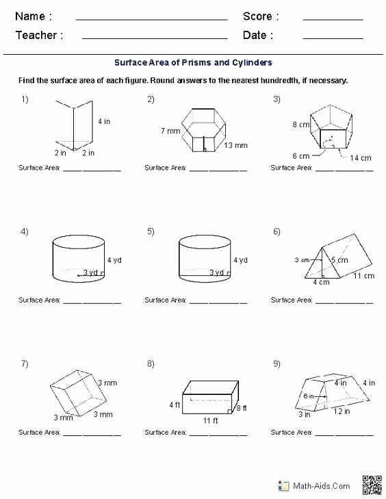 3rd Grade Volume Worksheets Volume Worksheets Grade Maths Ideas Surface area 8th Spring
