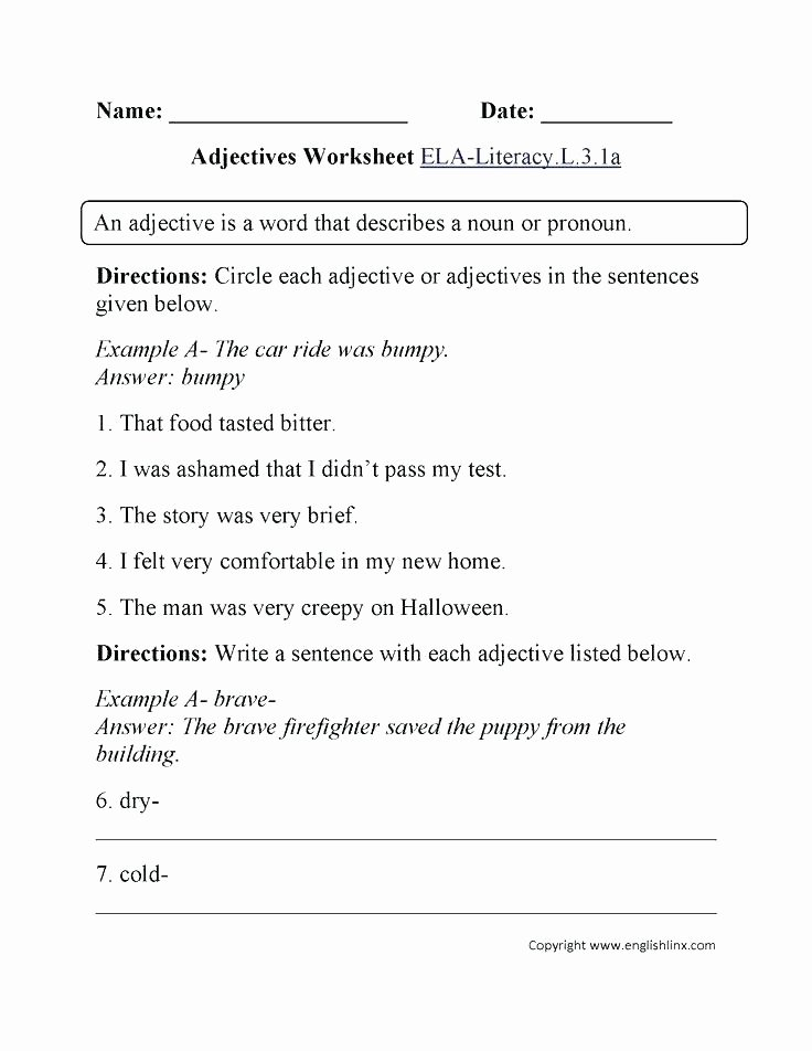 4th Grade Adverb Worksheets Identifying Adverbs Grade Adverb Worksheets Adjective and