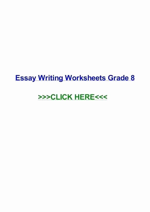 4th Grade Essay Writing Worksheets Fourth Grade Writing Worksheets 8 Reading and Free