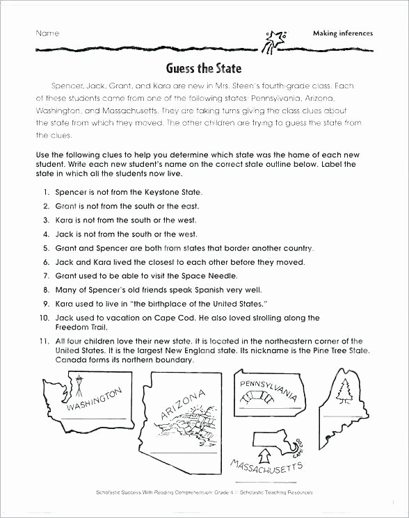 4th Grade Inferencing Worksheets Free Printable Inference Worksheets for Grade 2 Unique