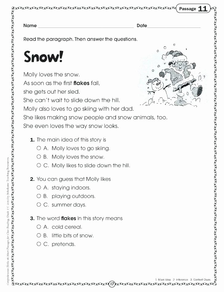 4th Grade Inferencing Worksheets Inference Worksheets Printable Free Making Inferences 4th