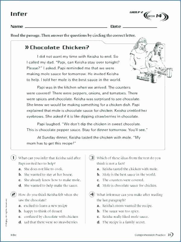 4th Grade Inferencing Worksheets Worksheet Inference Worksheets Grade Making Inferences