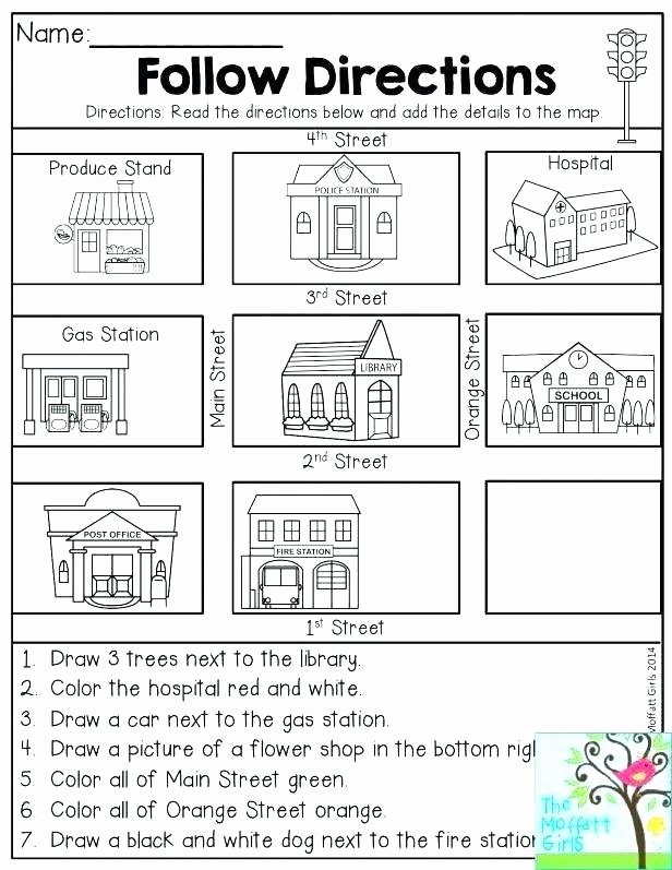 4th Grade Map Skills Worksheets Basic Map Skills Worksheets