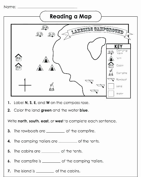 4th Grade Map Skills Worksheets Free Map Worksheets for 3rd Grade