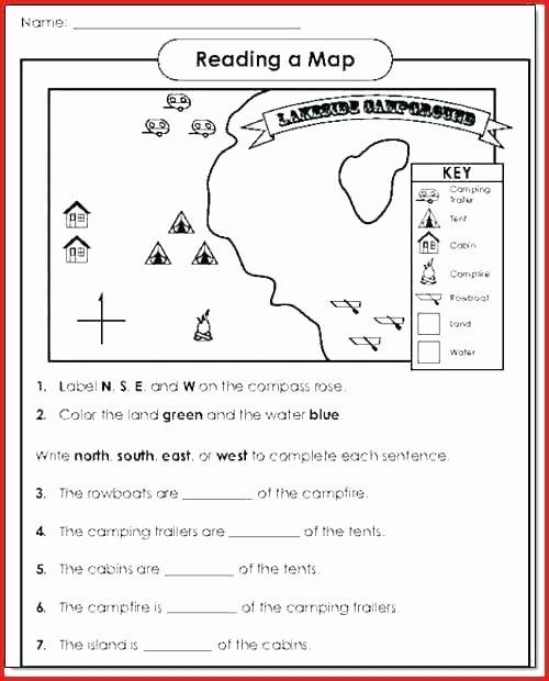 4th Grade Map Skills Worksheets Map Skills 5th Grade Worksheets